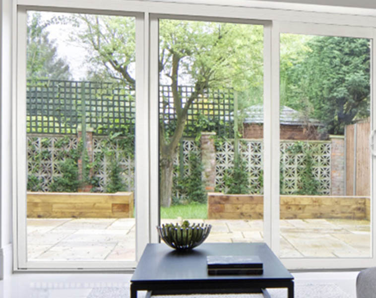 Vinyl sliding patio doors