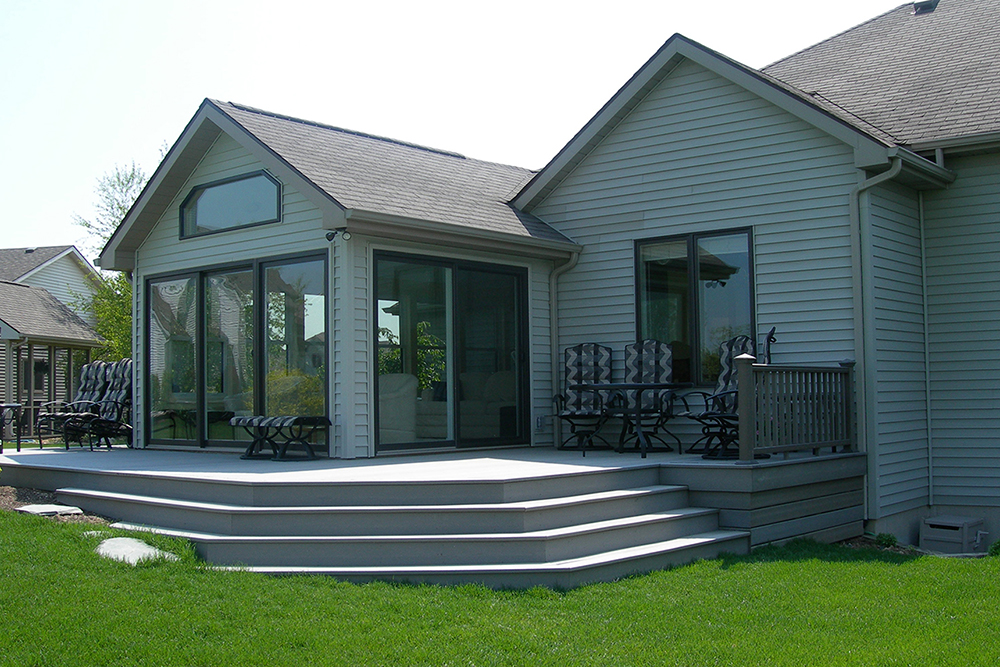 Photo of deck and room addition