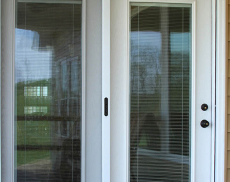 Fiberglass & steel hinged patio doors