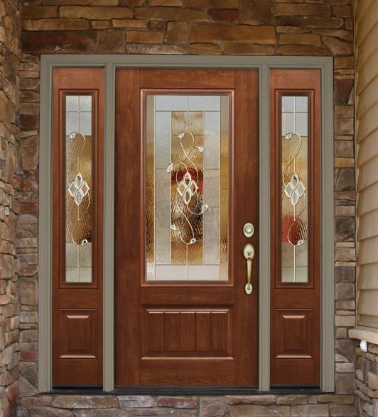 Realistic woodgrain fiberglass doors